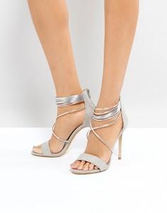 Серые босоножки на каблуке Office Hollywood - Серый