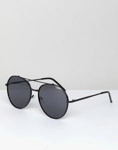 Черные круглые солнцезащитные очки AJ Morgan Victory - Черный