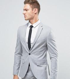Светло-серый супероблегающий пиджак Selected Homme - Серый