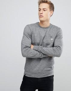 Меланжевый свитер с круглым вырезом Le Breve - Серый