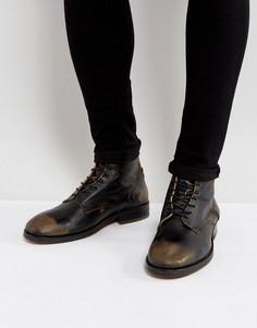 Кожаные ботинки на шнуровке H London Mckendrick - Черный