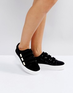 Кроссовки на липучках Miss KG - Черный