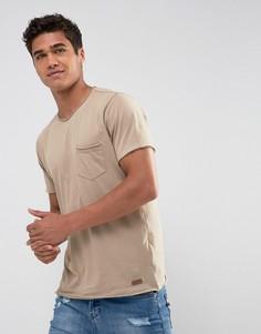 Базовая футболка с необработанными краями Brave Soul - Кремовый
