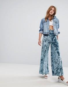 Широкие бархатные брюки Pimkie - Синий
