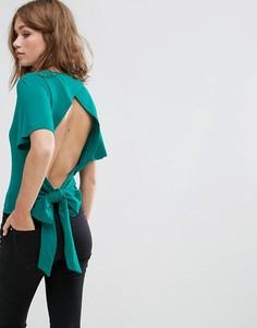 Топ с завязывающимся на спине поясом Pimkie - Зеленый