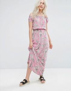 Платье макси с пальмовым принтом Pimkie - Розовый