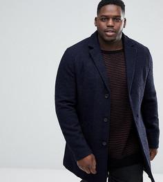Фактурное пальто букле Stanley Adams PLUS - Темно-синий