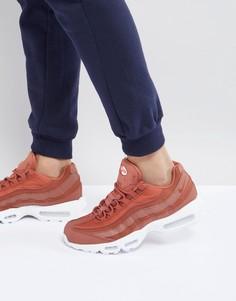 Оранжевые кроссовки Nike Air Max 95 Premium SE 924478-200 - Оранжевый