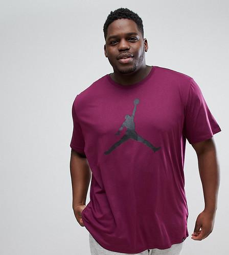 Фиолетовая футболка с большим логотипом Nike Jordan PLUS 908017-609 - Фиолетовый