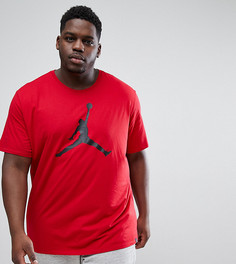 Красная футболка с большим логотипом Nike Jordan PLUS 908017-687 - Красный