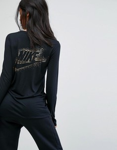 Лонгслив с логотипом цвета металлик Nike - Мульти