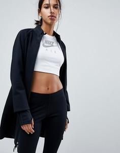 Черная флисовая куртка на молнии Nike Tech - Черный