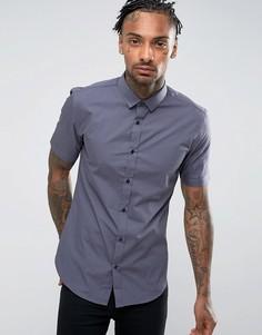 Темно-серая облегающая рубашка River Island - Серый