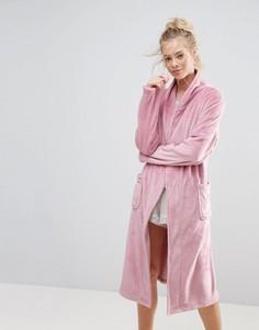 Мягкий халат миди ASOS - Розовый