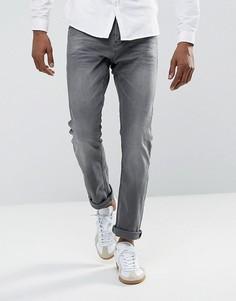 Серые выбеленные джинсы узкого кроя Tom Tailor - Серый