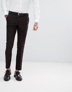 Зауженные брюки с принтом в стиле барокко Harry Brown Winter Wedding - Черный