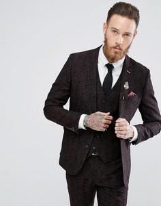 Приталенный пиджак с принтом в стиле барокко Harry Brown Winter Wedding - Черный