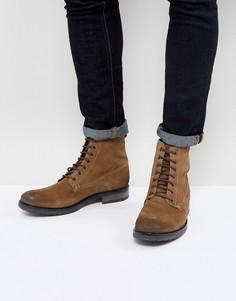 Замшевые ботинки на шнуровке ASOS - Светло-бежевый