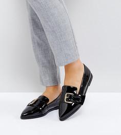 Туфли на плоской подошве для широкой стопы с острым носком ASOS MELVIN - Черный