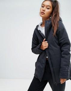 Черная дутая куртка с капюшоном Reebok Classics - Черный