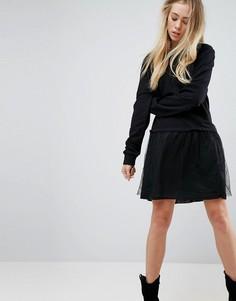 Платье-футболка 2-в-1 Brave Soul Leona - Черный
