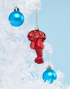 Новогоднее украшение в виде омара с блестками Sass & Belle - Мульти