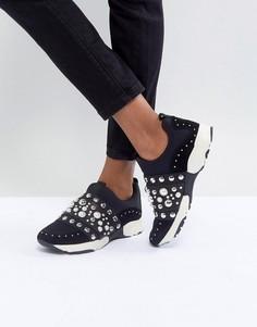 Кроссовки с заклепками Carvela - Черный
