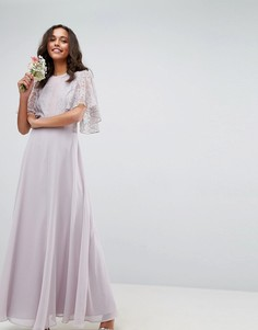 Платье макси с кружевной аппликацией ASOS WEDDING - Мульти