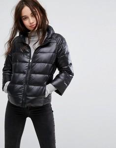 Дутая куртка с укороченными рукавами Pimkie - Черный