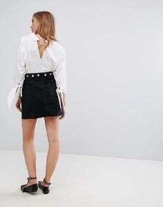 Джинсовая юбка с люверсами Pimkie - Черный