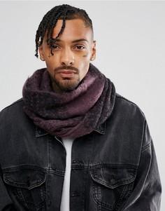 Черно-фиолетовый шарф-снуд в стиле оверсайз ASOS - Фиолетовый