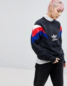 Черный свитшот с круглым вырезом adidas Originals Neva - Черный