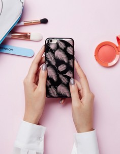 Розово-золотистый чехол для iPhone 6 с принтом пальмовых листьев Signature - Золотой