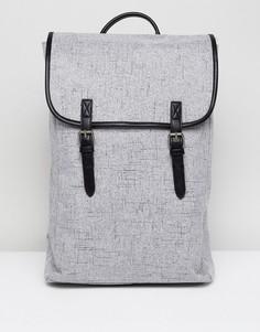Серый фактурный рюкзак с двумя ремешками ASOS - Серый