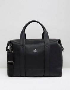 Черная сумка из искусственной кожи с тисненым логотипом ASOS - Черный