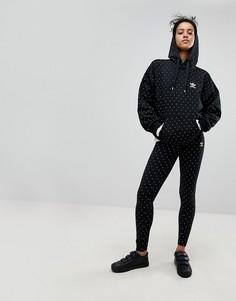 Леггинсы в горошек adidas Originals X Pharrell Williams Hu - Черный