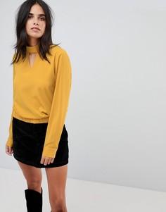 Блузка с вырезом капелькой Vila - Желтый
