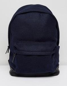 Темно-синий рюкзак с основанием из кожзаменителя ASOS - Темно-синий