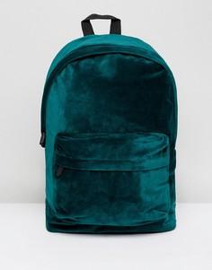 Зеленый бархатный рюкзак ASOS - Зеленый