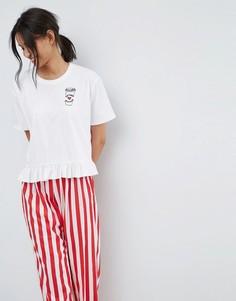 Пижамная футболка и брюки ASOS - Мульти