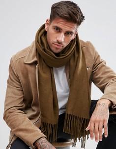 Широкий шарф цвета хаки ASOS - Серый