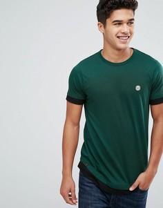 Двухслойная футболка Le Breve - Зеленый