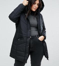 Дутая премиум-куртка с капюшоном Junarose - Мульти