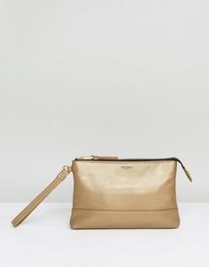 Кожаный клатч Knomo - Золотой
