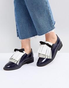 Кожаные туфли на плоской подошве ASOS MONDAY - Темно-синий