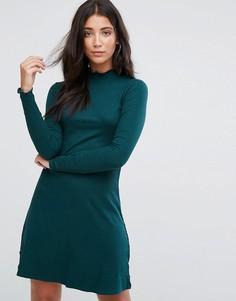 Трикотажное платье с высоким воротом Brave Soul Julie - Зеленый