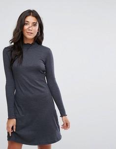 Трикотажное платье с высоким воротом Brave Soul Julie - Серый