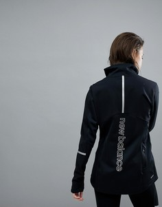 Черная куртка New Balance Running Hybrid - Черный