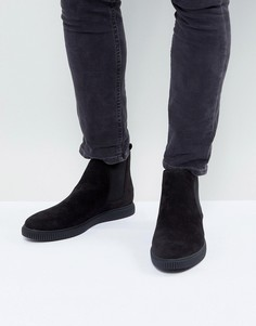 Черные ботинки челси из искусственной кожи ASOS - Черный