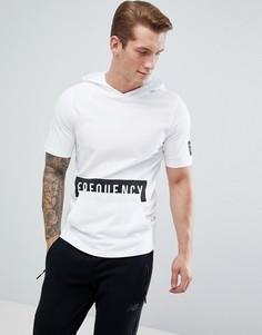 Длинная футболка с капюшоном и карманом Jack & Jones - Белый